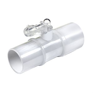CPAP Tube Connector with inline Oxygen Enrichment port, Clear, Qty 5