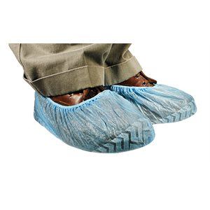 Shoe Cover, Unversal Fit Non Skid Blue Qty 100