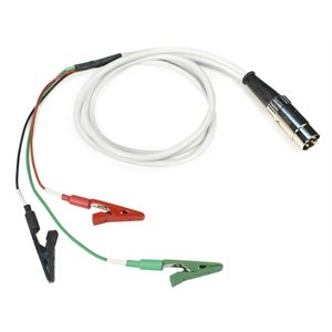 "KING Shielded 59"" Cable w / 5-pin DIN plug and 3 alligator clips (R / B 5.5"", G 7.5""), Qty 1"