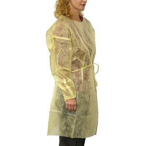Disposable Isolation Gowns- Long Sleeves Qty 100