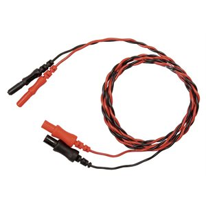 "Natus Extension Cable 1.0m (40"") Twisted Red and Black 1.5 Touch Proof Connectors"