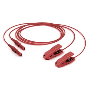 "Red Unshielded cable with clip connector, 32"", 2 Pack"